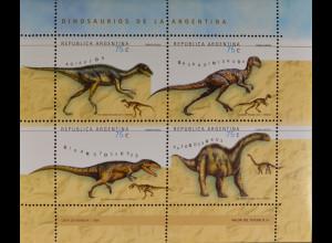 Argentinien Argentina 1998 MiNr. 2446-49 Prähistorische Tiere Dinosaurier
