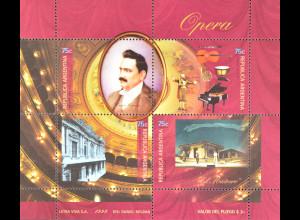 Argentinien Argentina 1999 MiNr. 2474-77 100. Jt. Amerikadebüts Enrico Caruso