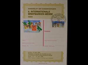 Sonderblatt der Sonderpostkarte 6. Briefmarken Messe Essen 10.4.1986 Handwerk