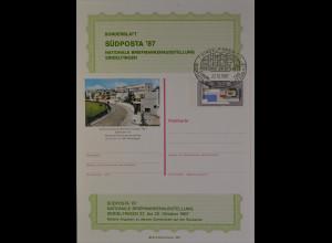Sonderblatt Südposta 1987 Sindelfingen Europa Werkbundsiedlung Weißenhof