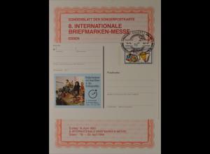Sonderblatt der Sonderpostkarte Messe Essen 1990 Europa Drachen