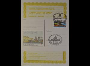 Sonderblatt der Sonderpostkarte Confluentes 2000 in Jahre 1992 Koblenz