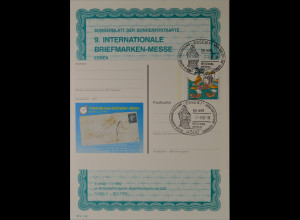 Sonderblatt der Sonderpostkarte Briefmarken-Messe Essen 1992 Entdeckung Amerikas
