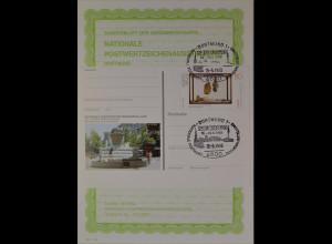 Sonderblatt der Sonderpostkarte Postwertzeichenausstellung Dortmund 1993 Naposta