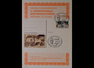 Sonderblatt der Sonderpostkarte Briefmarken Börse Sindelfingen 1993 Hugo Eckener