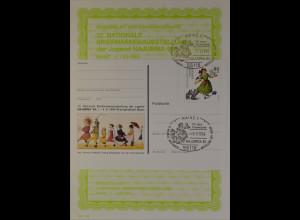 Sonderblatt der Sonderpostkarte Najubria 1994 Der Struwwelpeter Paulinchen