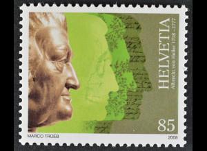 Schweiz 2008 Michel Nr. 2055 **, 300. Geburtstag von Albrecht von Haller