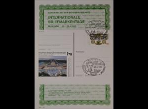 Sonderblatt der Sonderpostkarte Briefmarkentage München 1995 König Ludwig II.