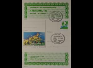 Sonderblatt der Sonderpostkarte Hansephil 1995 Rostock 100 Jahre Mecklenburg