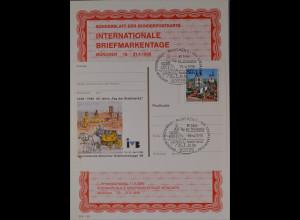Sonderblatt der Sonderpostkarte Briefmarkentage München 1996 60 J. Tag der Marke