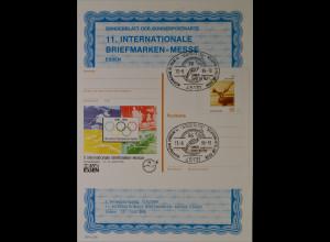 Sonderblatt der Sonderpostkarte Messe Essen 1996 100 Jahre Olympische Spiele