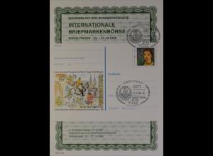 Sonderblatt der Sonderpostkarte Internationale Briefmarkenbörse Sindelfingen `96