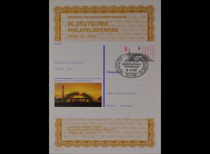 Sonderblatt der Sonderpostkarte Philatelistentag Leipzig 1997 Neue Messehalle
