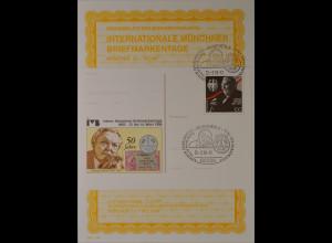 Sonderblatt der Sonderpostkarte Münchner Briefmarkentage 1998 Ludwig Erhard