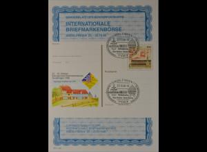 Sonderblatt der Sonderpostkarte Börse Sindelfingen 1998 Kloster Maulbronn