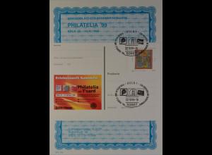 Sonderblatt der Sonderpostkarte Philatelia 1999 Köln Hildegard von Bingen