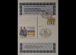 Sonderblatt der Sonderpostkarte Briefmarkenbörse Sindelfingen 1999 Goethehaus