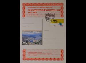 Sonderblatt der Sonderpostkarte Postwertzeichenausstellung Kiel 2000
