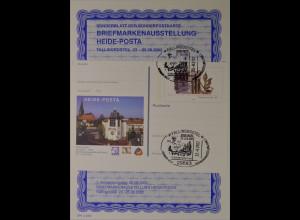 Sonderblatt der Sonderpostkarte Briefmarkenausstellung Heide Posta Fallingpostel