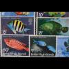 Britische Jungferinseln 1975 Freimarken Fische mit Jahreszahl 1975