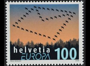 Schweiz 2008 Michel Nr. 2065 Europa Der Brief Volgelflug Umschlag
