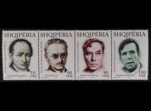 Albanien 2015 Michel Nr. 3502-05 Bedeutende Persönlichkeiten der Welt Portraits