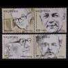 Albanien 2015 Michel Nr. 3495-98 Bedeutende nationale Persönlichkeiten Portraits