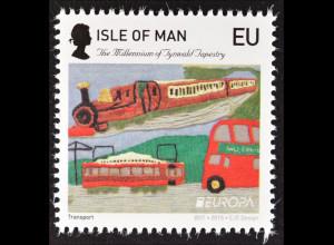 Insel Man Isle of Man 2015 Michel Nr. 2026 II Altes Spielzeug Eisenbahn Bus