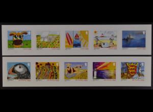 Jersey 2015 Michel Nr. 1976-85 Mein Jersey Freimarken Strand Leuchtturm Wappen