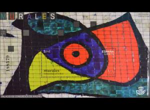 Spanien España 2015 Block 272 Joan Miros Wandmalerei Künstlerisches Erbe