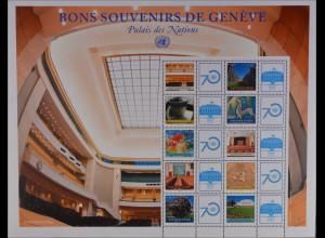 Vereinte Nationen UN UNO Genf 2015 Michel Nr. 922-31 Grussmarken Plenarsaal