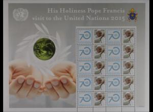Vereinte Nationen UN UNO New York 2015 Nr. 1491 Papst Franziskus besucht UNO
