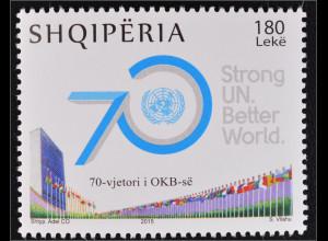 Albanien 2015 Michel Nr. 3506 70. Jahrestag der Vereinten Nationen UNO