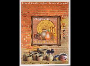 Albanien 2015 Block 192 Handwerkskunst Töpferei Vasen