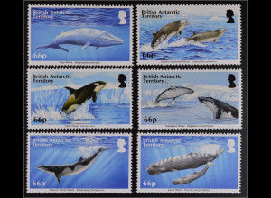 Britische Antarktis BAT 2015 Michel Nr. 691-96 Wale Meerestiere Fauna