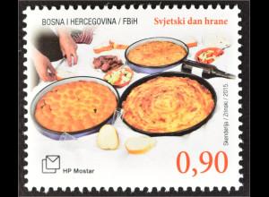 Bosnien Herzegowina Kroatische Post Mostar 2015 Michel Nr. 418 Welternährungstag