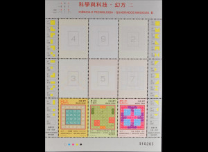 China Macau Macao 2015 Block 243 Magische Quadrate