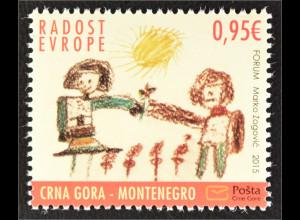 Montenegro 2015 Michel Nr. 375 Freude Europas Kinderzeichnung