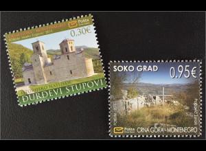 Montenegro 2015 Michel Nr. 377-78 Historisches Erbe Sehenswürdigkeiten