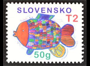 Slowakei Slovakia 2015 MiNr. 777 Weihnachten mit buntem Fischmotiv