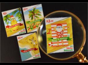 Tokelau Inseln 2015 Michel Nr. 478-81 Weihnachten Weihnachtsmann