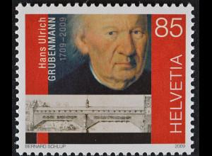 Schweiz 2009 Michel Nr. 2096 300. Geburtstag von Hans Ulrich Grubenmann