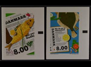 Dänemark Denmark 2016 Michel Nr. 1867-68 Nordische Esskultur Fische Flunder