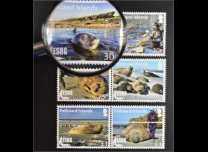 Falkland Inseln 2015 Michel Nr. 1286-91Seeelefanten Tiere Meeresbewohner