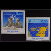 Moldawien Moldova 1994 Michel Nr. 128-29 Partnerschaft für den Frieden