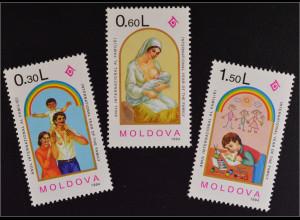 Moldawien Moldova 1994 Michel Nr. 130-32 Internationales Jahr der Familie