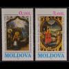 Moldawien Moldova 1994 Michel Nr. 151-52 Weihnachten Geburt Christi