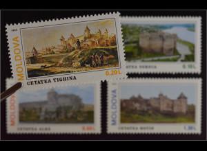 Moldawien Moldova 1995 Michel Nr. 178-81 Burgen Soroca Hotin Tighina Alba