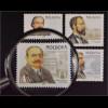 Moldawien Moldova 1998 Michel Nr. 266-69 Persönlichkeiten Stefan Ciobanu