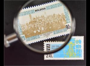 Moldawien Moldova 1998 Michel Nr. 301-02 Jahrestage und Ereignisse